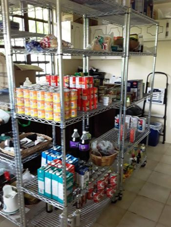 The Family Support Network's (FSN) pantry. Director of FSN, Mrs Sasha H. Stoutt has said approximately 7,000 individuals, along with their families, get food from FSN on a yearly basis. Photo: FSN