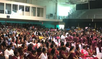 The Althea Scatliffe Primary School (ASPS) Exit Ceremony was held at a jam-packed Multi-Purpose Sports Complex on Wednesday June 26, 2019. Photo: Team of Reporters