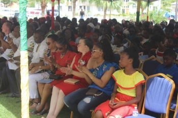 Approximately 300 persons, mostly locals, attended Territory Day Celebrations at Central Administration Complex on Monday July 1, 2019. Photo: VINO