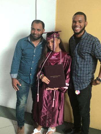 Janelis Diaz Baret was one of 74 students who graduated from the Althea Scatliffe Primary School on June 26, 2019. Photo: Team of Reporters