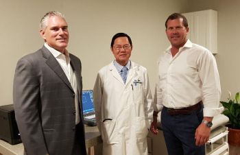 From left: Executive Director of Medical Services, BVI Inc, Mr John F. Nash, Cardiologist Dr Prachak Siriprakorn aka 'Dr Siri', and Director Mr Danny D. Martin. Photo: VINO