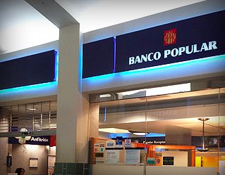 Banco Popular de Puerto Rico is working to establish a presence on Virgin Gourda. Photo: Internet Source