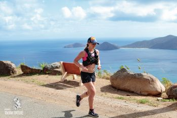 Sabrina Stanley, from Steamboat Springs, Colorado, was the first woman to complete the 2018 KPMG Tortola Torture. She ran a time of 05:27:24. Photo: Tortola Torture