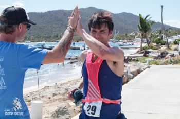 Nick Accardo from New Orleans, Louisiana, was second in the 4th annual KPMG Tortola Torture with a time of 04:55:09. Photo: Tortola Torture