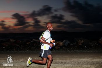 Julius Farley, in his first solo outing in the Tortola Torture, was third with a time of 05:17:09 and received the Tortola Torture Agony Cup for best Virgin Islands resident. Photo: Tortola Torture