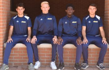 All Region Honours: From left- Juan Garcia, a freshman midfielder from Taubate, Brazil, Ryan Davey, a freshman defender from Hampshire, England, Troy Ceasar, a sophomore defender from Tortola, Virgin Islands, and Jordan Vaughan, a freshman midfielder from Crawfordville, Florida. Photo: Provided