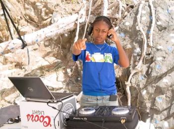At just 19-years-old, Ms Ashani Z. Leonard is a construction worker with dreams of not only building platforms but commanding them as a Disc Jockey; Her current moniker, 'DJ Rookie'. Photo: Provided