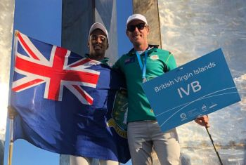 Thad A. Lettsome at the 2019 Youth Sailing World Championships in Poland, finished in 19th position overall, however, posted three top 10 finishes across the nine-race series, remaining composed and showed good tactical skills, sticking to and executing his plan for each race. Photo: RVIPF