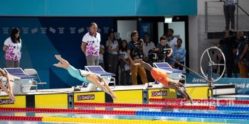 Elinah Phillip had a non-advancing result to the finals in the Women's 50m Freestyle semi-finals swimming with a time of 26.56. Photo: Cleave M. Farrington/BVIOC