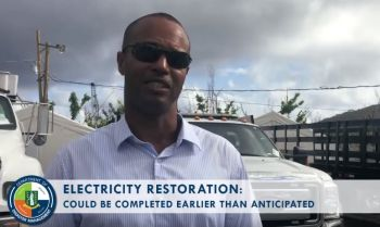 Deputy General Manager of BVI Electricity Corporation (BVIEC) Mr Henry O. Creque has said it is estimated to take a month less to restore power to the entire Territory with the additional help being received. Photo: Facebook