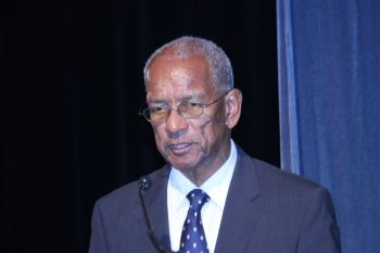 Premier, Dr the Honourable D. Orlando Smith (AL). Photo: VINO/File