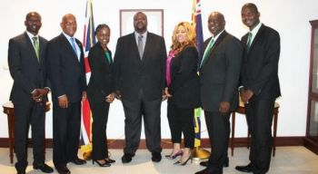 Ministers of Government from the Virgin Islands Party (VIP) administration: The VIP Government now assumes the daunting task as they face the full-time battle to transform the territory while tackling the covert takeover attempts by Britain. Photo: Provided