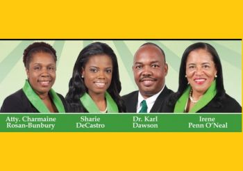 The Ready Committee noted that all 13 candidates representing the VIP in the upcoming general elections in June have four important values that are good for the interest of the youth of the Virgin Islands. 'The 13 candidates possess high integrity, love for people, love for country and have vision and solutions to move the youth agenda forward, hence the country.' Photo: VINO