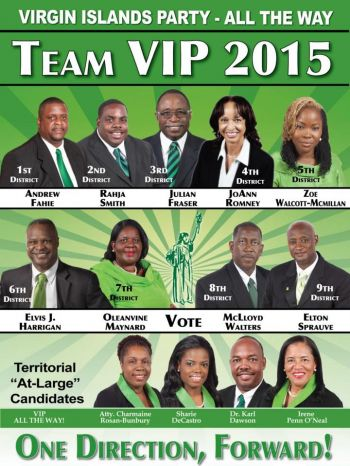Persons will get another opportunity to mingle with the 13 Virgin Islands Party candidates at the youth rally today, June 6, 2015. Photo: VINO/File