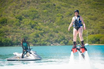 Virgin Gordian Joshua N. Wheatley has taught hundreds how to Flyboard. Photo: Provided