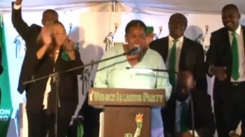 Dr Titley-O'Neal made the announcement at the official elections campaign launch of Mr Wheatley on Sunday, February 10, 2019, to a large crowd of VIP supporters and well-wishers in Virgin Gorda. Photo: Youtube