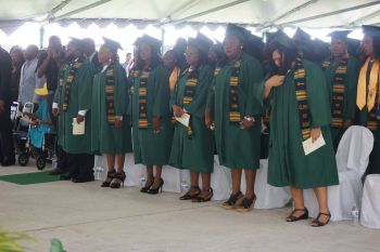 Female graduates outnumbered males 119 to 55, acccording to statistics provided of the graduating class of 2016. Photo: Andre 'Shadow' Dawson