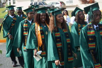 Some 194 students graduated from the H. Lavity Stoutt Community College on Thursday June 9, 2016. Photo: Andre 'Shadow' Dawson
