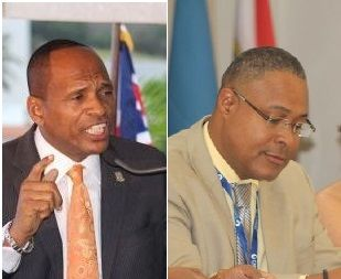 The BVI Electricity Corporation, under General Manager Leroy A. E. Abraham (left), is a statutory body under the Ministry of Communications and Works of which Honourable Mark H. Vanterpool is Minister. Photo: VINO/File