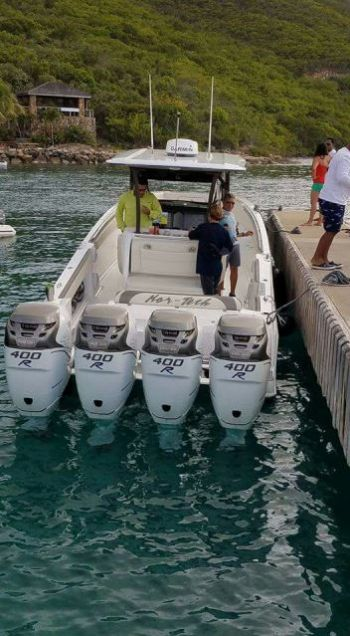 One of the boats from Virgin Gorda that is expected to be in today's poker run. Photo: Facebook