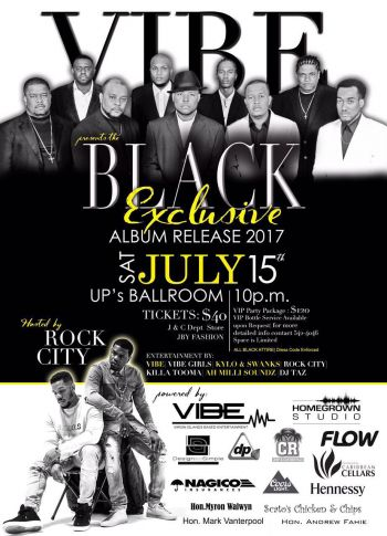 The flyer for the album release by VIBE. Photo: VINO