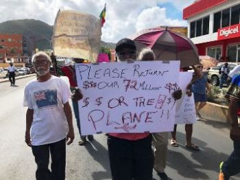 Scores of residents of the Virgin Islands (VI) on Friday June 8, 2018, marched in a procession from the Sunday Morning Well to the Government Administrative Complex, shortly after 3:00 PM for the 'Peoples' March.' Photo: Team of Reporters
