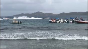 "The family-oriented event was hailed as a success with patrons and participants having a great time; ""all boats had their helmets and other safety equipment, and there were hundreds of people that came to watch a BVI tradition from Boat Race."" Photo: Team of Reporters"