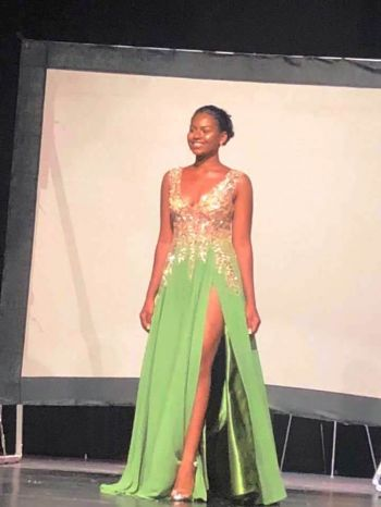 Contestant, Ms Aaliyah Innis copped first place for her video presentation aimed at raising awareness on the need to protect the Leather-back turtle—her pageant platform. Photo: Facebook
