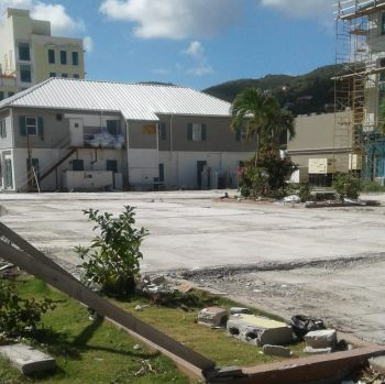 AFTER: The Wickhams Cay Authority and the City Manager, has demolished the center. Photo: Team of Reporters