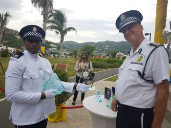 "Deonarine ""Deo"" Persaud copped several awards including The Commissioner's Award, Most Discipline, Best Police Subjects and Best Recruit Awards of 2018. Photo: VINO"