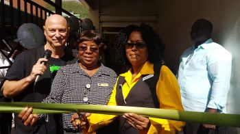 On hand for the opening today were many residents, employees and company officials. Photo: VINO