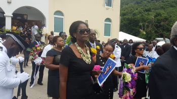 Relatives and friends of the late Hon Delores Lettsome-Christopher. Photo: VINO
