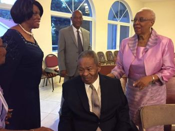 Hon Ralph T. O'Neal out today November 4, 2018, to the Sea Cows Bay Methodist Church. To his immediate left is his wife Reverend Edris O'Neal, in the immediate back is Ninth District Candidate Mr. Vincent O. Wheatley. Photo: Facebook