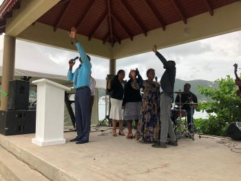 The event also featured pastors from several churches around the VI as they raised their voices in praise with singing and dancing. Photo: Team of Reporters