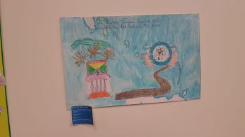 2nd Place winning poster of Alyssa Joseph of the Bregado Flax Education Centre Primary. Photo: VINO