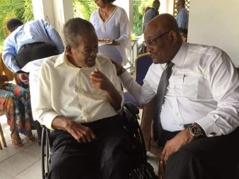 Hon Ralph T. O'Neal with former Health and Social Development Minister, Hon Ronnie W. Skelton (AL). Photo: Facebook