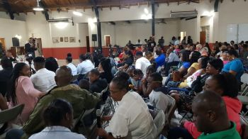 The event took place on Wednesday, January 9, 2019, at the Catholic Community Centre on VG to a packed audience. It was organised by youths who came together with the belief that plans to build up the Ninth District should be based on reason, regardless of political affiliations. Photo: Team of Reporters