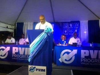 "Hon Skelton noted that he wanted to put an end to certain myths, the main one being, ""members of the PVIM sat in the NDP and condoned corruption."" Photo: Team of Reporters"