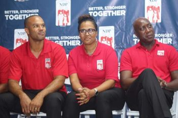 (Left to right) At-Large candidates, Henry O. Creque, Sandy M. Underhill and Myron V. Walwyn. Photo: Facebook