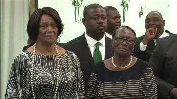 From left to right, Former First Lady Reverend Edris O'Neal and Ms Naomi Turnbull, only surviving founder of the Virgin Islands Party. Photo: Team of Reporters