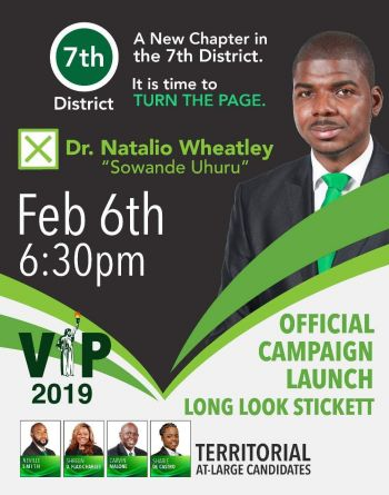 Poster for Dr Natalio D. Wheatley. Photo: Team of Reporters