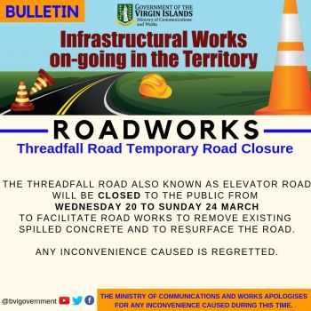 In a public notice, the government announced that road works will be commencing from