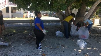 """Upon entering Brandywine Bay, Tortola, the amounts of trash collected and thrown into the dumpsters was unbelievable. The trash bags seen in pictures does not amount to the actual numbers of bags of garbage collected today,"" the club noted via a post on their Facebook page. Photo: Team of Reporters"