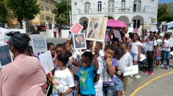 The road march held yesterday April 12, 2019, also brought attention to Autism as a large number of persons pranced through the streets of Road Town, Tortola, starting from the Autism Centre and ending at the Noel Lloyd Positive Action Movement Park. Photo: VINO
