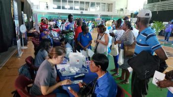 Amongst the health care providers present were BVI Health Services Authority, National Health Insurance, Eureka Medical Clinic, Pavia Hospital out of Puerto Rico, Bougainvillea Clinic, Corvel Corporation, B&F Medical and Holy Cross Hospital out of Florida, USA. Photo: VINO