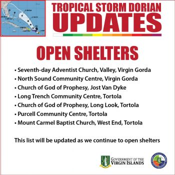 In earlier statements, Governor Augustus J.U. Jaspert had assured the territory that the Government has been working hard to do its part to be ready for Dorian and other storms. He said the territory's 27 emergency shelters have been inspected and are standing by in case they are needed. Photo: GIS