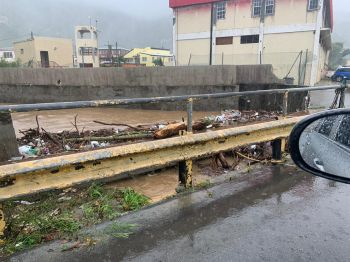 A flooded ghut in Road Town, Tortola. Photo: Team of Reporters
