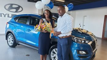 While Ms Hamm along with Mr Cline cheered on, Mr French said, 'A winner deserves a winning brand,' in noting that Hyundai remains the lead selling brand of vehicles in the territory for three years in a row.