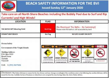 Beachgoers are encouraged to pay attention to alert statements issued in order to safeguard life and property. Photo: Provided