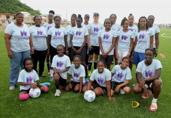 The CONCACAF Women's Day Celebration was held on Saturday November 18, 2017 on the new Pitch at Long Look/East End, Tortola. Photo: Dean H. Greenaway aka 'The Sportsman'